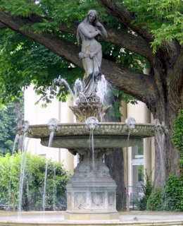 Champs Elysees Garden Fountain, Paris