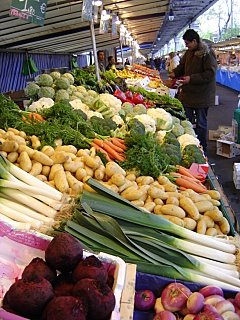Paris Street Market Vegetables