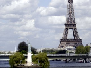 Eiffel Tower and the Statue of Liberty, Paris