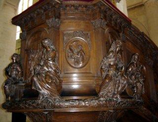 Saint Etienne du Mont Pulpit
