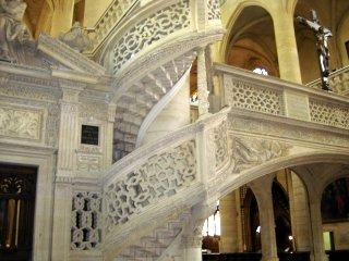 Saint Etienne du Mont Stair Detail