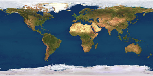 World Map from Planetary Visions